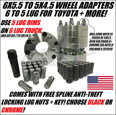 """4 WHEEL ADAPTERSUSE 5X5.5 OR 5X139.7 WHEELS ON 5X135 CAR1.5/"""" INCH THICK"""