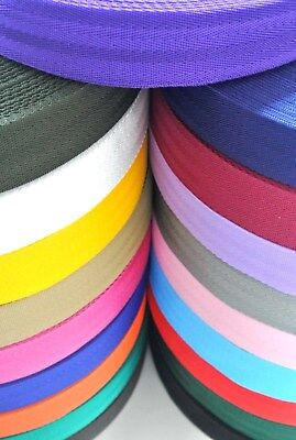 38/40mm Herringbone Webbing In 19 Colours 1m 2m 5m 10m 25m 50m Bags Straps Craft • 2.45£