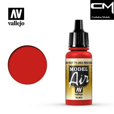 Vallejo Model Air 71.003 Red RLM23 - 17ml Acrylic Airbrush Ready Paint • 2.40£