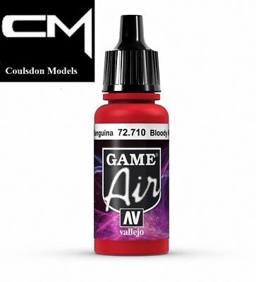 Vallejo Game Air Bloody Red 72.710 - 17ml Acrylic Airbrush Paint • 2.40£