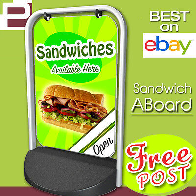 Sandwich Pavement Sign A Board Advertising Shop Cafe Display • 99£