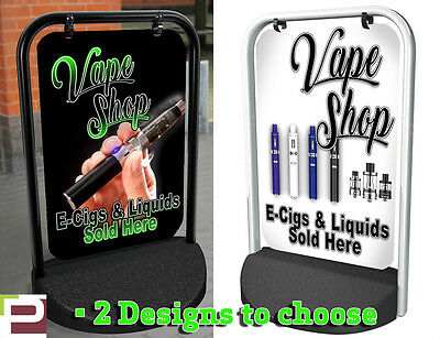 AU177.83 • Buy VAPE SHOP E-Cig PAVEMENT SIGN ADVERTISING STREET DISPLAY, A-Board