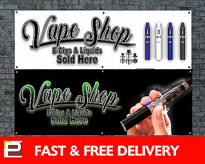 AU44.91 • Buy Vape Shop E-Cig Banner Sign Outdoor/Indoor Advertising PVC Banner With Eyelets