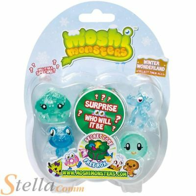 Moshi Monsters Winter Wonderland 5 Figure Pack Collectable Christmas Toy • 8.45£