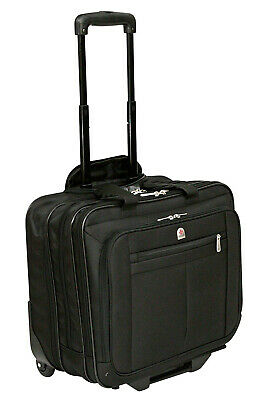 £79.99 • Buy Wheeled Business Hand Luggage Flight Pilot Briefcase Doctor Pulley Cabin Bag