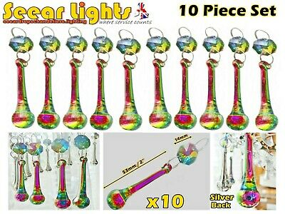 £21.99 • Buy 10 Ab Vitrail Gothic Chandelier Glass Crystals Droplets Orb Water Drops Beads