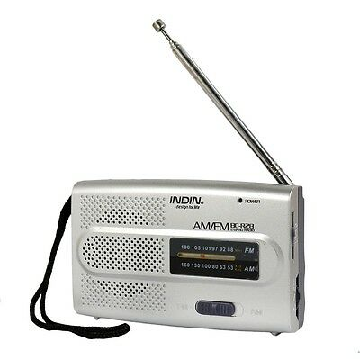 Portable Pocket AM/FM Receiver Radio Telescopic Antenna Built In Speaker  • 4.88£