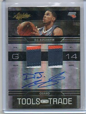 AU43.92 • Buy (T410) 2009-10 D.J. Augustin Absolute TOOLS Of The TRADE #8 AUTO PATCH #D/5