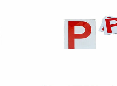 Fully Magnetic RED  P Driver Plate Plates For Car Vehicle X 2  • 1.20£