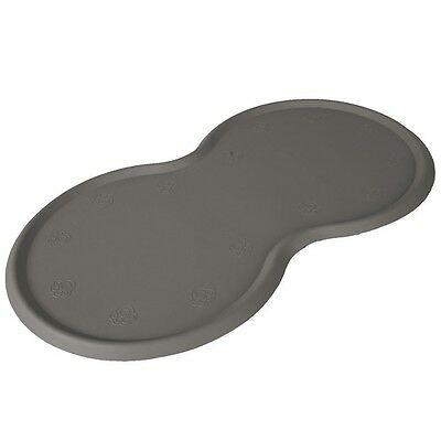 Place Mat For Food Bowls, Natural Rubber, 45 × 25 Cm, Dark Grey • 7.80£