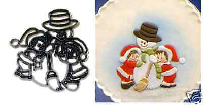 £4.95 • Buy Patchwork Cutters SNOWMAN - Cake Decorating Embosser Cutter