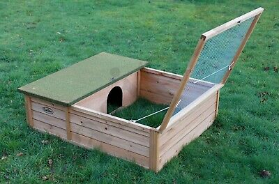 £59.99 • Buy Hedgehog Tortoise Small Pet Wooden House Hide Shelter With Run Guinea Pig 107cm