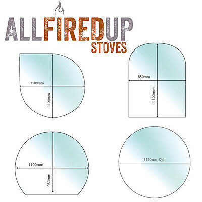 £113.16 • Buy Toughened Glass Hearth Floor Plates For Multifuel Wood Burning Stoves 12mm Thick