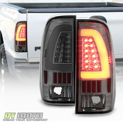 $128.99 • Buy Smoke 1997-2003 Ford F150 99-07 F250 SuperDuty LED Tube Tail Lights Brake Lamps