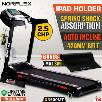 AU539 • Buy NEW NORFLEX Electric Treadmill Auto Incline Home Gym Exercise Machine Fitness
