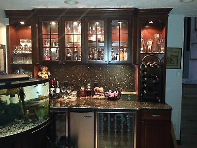 $3000 • Buy Mahogany Wet Bar With Wine Coolers