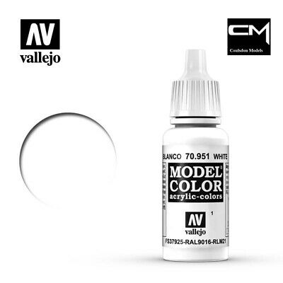 Vallejo Model Color White 70.951 (1) - 17ml Acrylic Paint • 2.30£