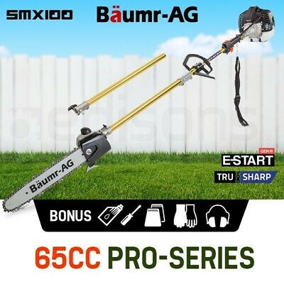 AU159 • Buy 65CC Petrol Pole Chainsaw Chain Saw Pruner Pro Arbor Tree Tool Cutter