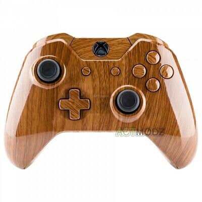 $13.99 • Buy Wooden Grain Pattern Housing Shell Button For Xbox One Controller W/3.5 Mm Jack