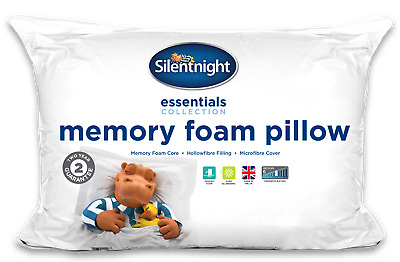 Silentnight Memory Foam Core Pillow 2 Pack Back Neck Lumbar Orthopaedic Support • 15.99£