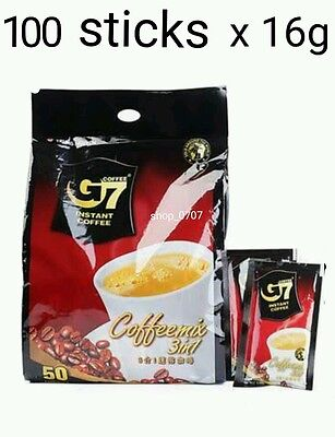 AU47.95 • Buy 100 Sticks X16g Vietnamese Trung Nguyen G7 Instant Coffee 3in1 Coffeemix Sachet