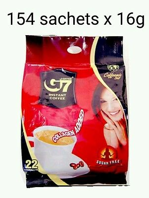 AU79.99 • Buy 154 X16g Vietnam Trung Nguyen G7 Instant Coffee 3 In 1 COLLAGEN ADDED SUGAR FREE