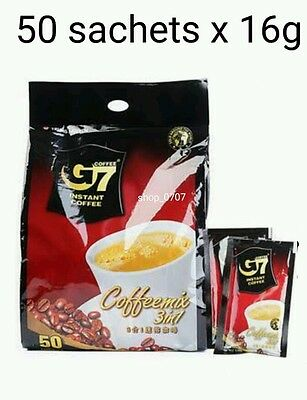 AU25.99 • Buy 50 Sachets X 16g Vietnamese Trung Nguyen G7 Instant Coffee 3 In 1 Coffeemix