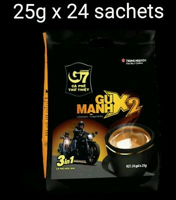 AU26.50 • Buy 25g X 24 Sachets Vietnam Trung Nguyen G7 STRONG X2 Instant Coffee 3in1 Coffeemix