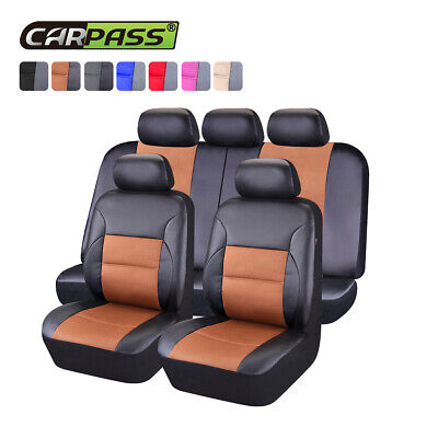 AU75.99 • Buy Universal Car Seat Covers Leather Mesh Cayenne Breathable Fit Rear 60/40 50/50