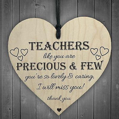 £3.99 • Buy Teachers Are Precious Wooden Hanging Heart Shabby Chic Thank You Plaque Gift