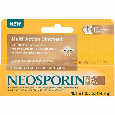 NEOSPORIN Pain Itch Scar Multi-Action First Aid Antibiotic Ointment 0.5oz 14.2g • 6.18£