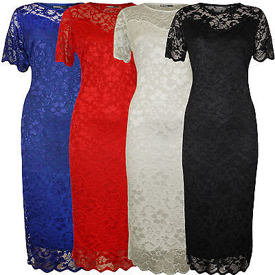 £18.99 • Buy Ladies Plus Size Nauvelle Sweetheart Lace Lined Bodycon Floral Midi Dress