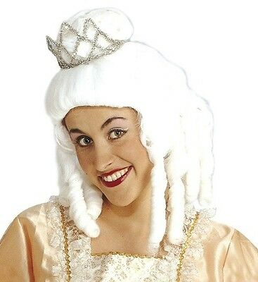 Ladies White Princess Wig Medieval French Cinderella Fairy Tale Queen Fancy Dres • 14.95£