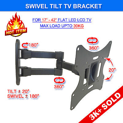 AU26.95 • Buy Swivel Tilt 17 24 27 32 37 42 LCD LED Plasma TV Monitor Wall Mount VESA Bracket