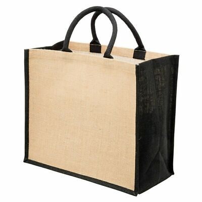 AU7.60 • Buy FIELDS | Plain Eco Jute Wide Gusset Tote Shopping Carry Conference Bag