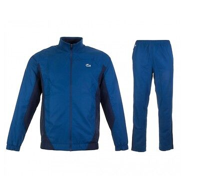 New Mens LACOSTE Full Tracksuit Jogging Pants Zip Jacket Track Top Blue  WH9091 • 150.36£