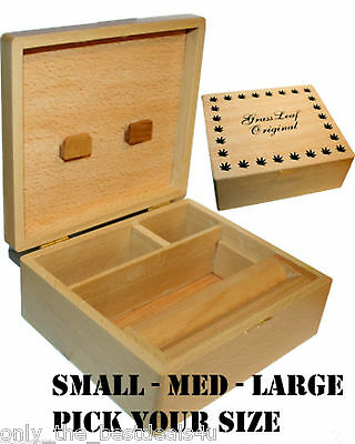 £7.99 • Buy Wooden Rolling Box Roll Box Smoking Stash. All Sizes