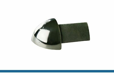 Outer Corners For Tile Trims 10mm Round Edging Stainless Steel Bright Profile • 5.20£