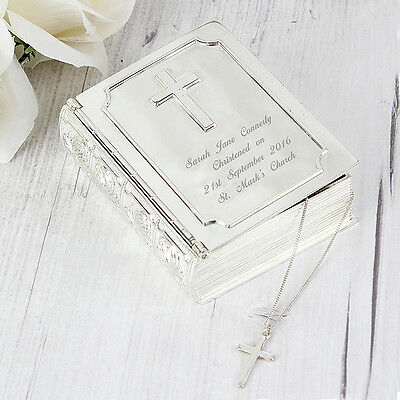 PERSONALISED BIBLE TRINKET First Holy Communion Christening Baptism Gift Idea • 16.99£