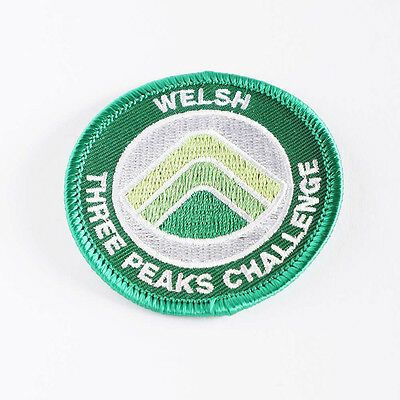 Welsh Three Peaks Challenge Embroidered Sewn Patch Badge • 2£