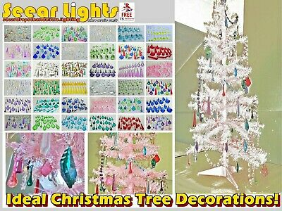£34.99 • Buy Chandelier Droplets Bundle Glass Crystals Beads Drops Christmas Tree Decorations