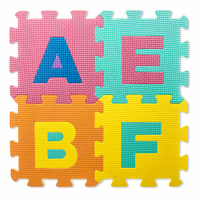 £7.94 • Buy Kids Large Alphabet Foam Floor Mat Childrens Colourful Play Numbers Puzzle