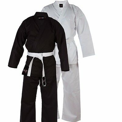 £19.99 • Buy Karate Suit  Martial Arts Uniform With Free Belt   (All Sizes In Black/White)