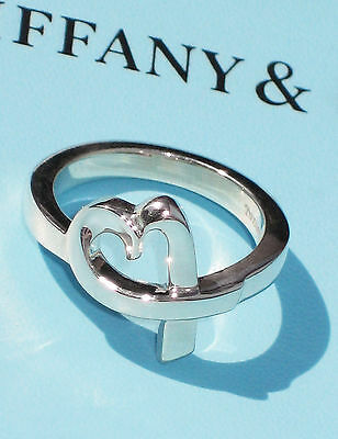Tiffany & Co Paloma Picasso Sterling Silver Loving Heart Ring • 159.99£