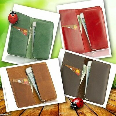 £17.70 • Buy Cell Phone Accessories Premium Leather Case Book For IPhone 4, 4S, 5, 5S