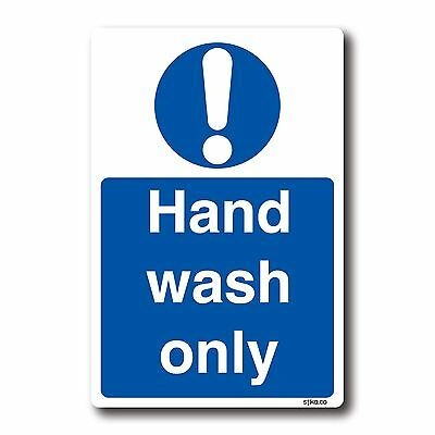 Wash Only Sticker - Kitchen Safety Signs By Stika.co (Hand Wash Only) • 1.64£