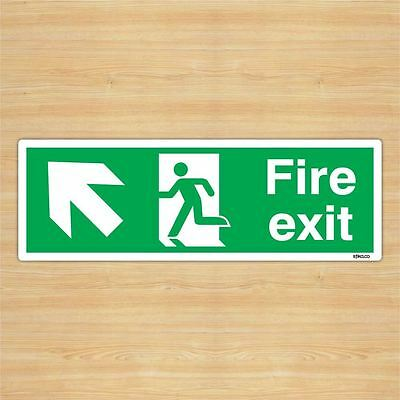 Fire Exit Direction Sign Safety Sticker (45x15cm) By Stika.co • 8.99£