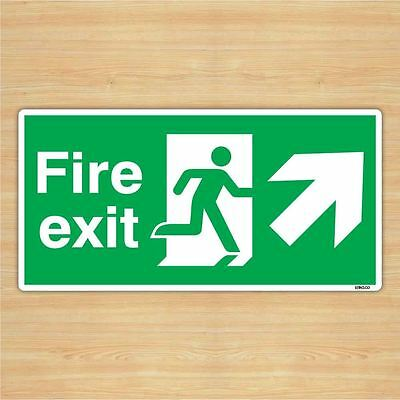 Fire Exit Direction Sign Safety Sticker (30x15cm) By Stika.co • 4.99£