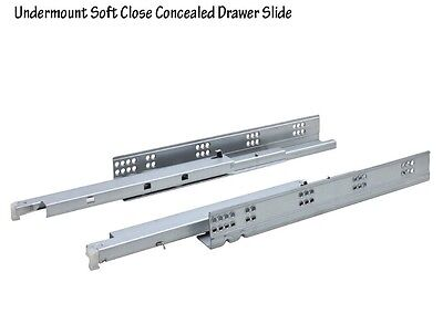 $76 • Buy 5 Pairs 12 -22  Full Extension Soft Close Undermount Cabinet Drawer Slides