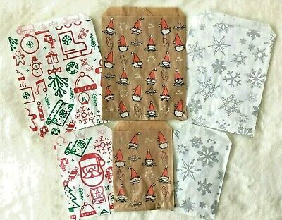 £1.99 • Buy Christmas Paper Sweet Counter Cookie Bags Buffet Party Snowflake Small & Medium